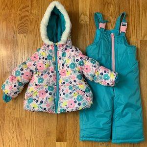 Carters Toddler 2 Piece Snow Suit - Coat & Bib 18m